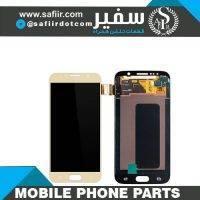 ال سی دی سامسونگ - قطعات موبایل سفیر- قطعات موبایل - لوازم تعمیرات موبایل- تعمیرات موبایل - تاچ ال سي دي S6 گلس چنج-LCD S6 CHANGE GLASS GOLD